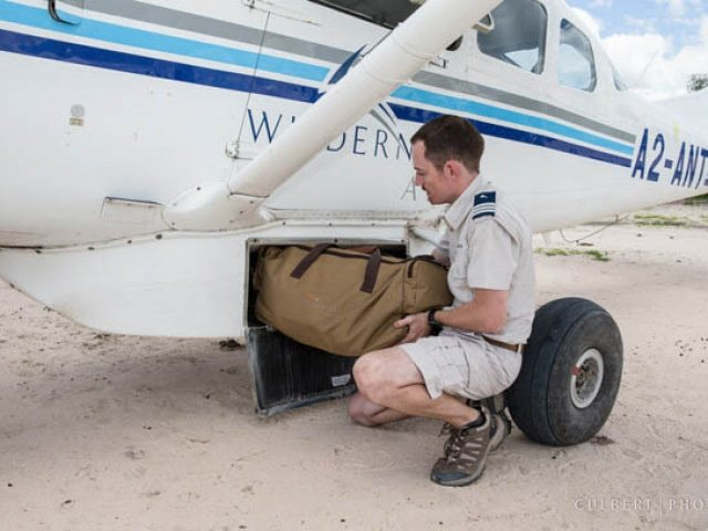 Luggage in light-aircraft
