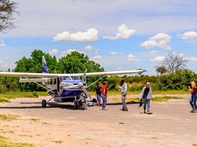 Light-aircraft plane, Botswana
