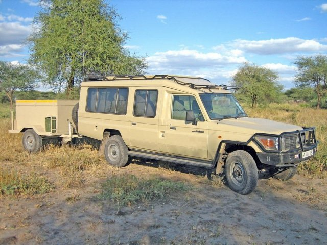 Safari Vehicle used for a scheduled departure