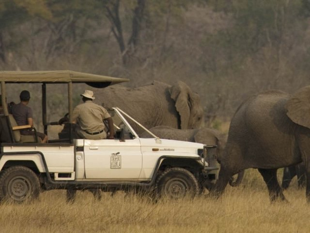 Safari vehicle used in tailor-made fly-in itinerary