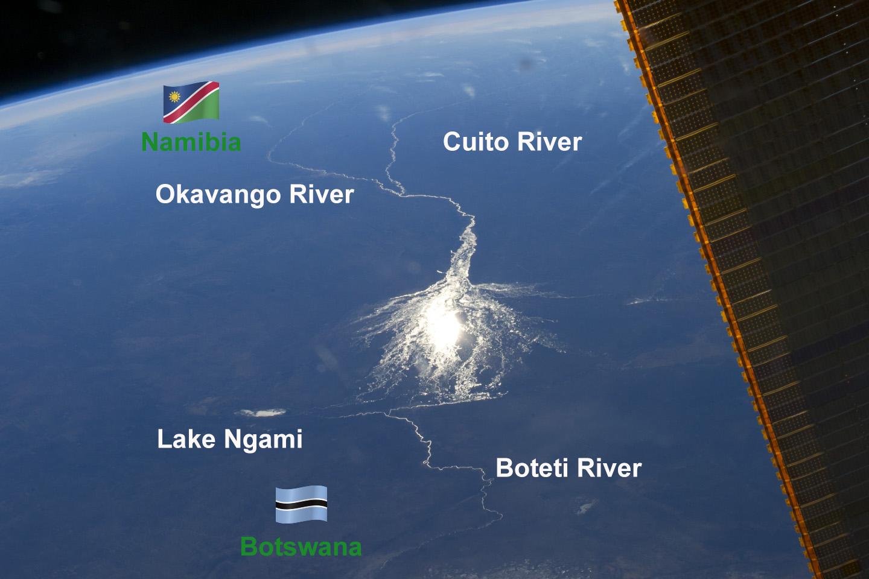 Okavango Delta from Space