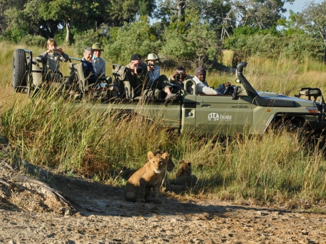 Letaba Camp guide and guests