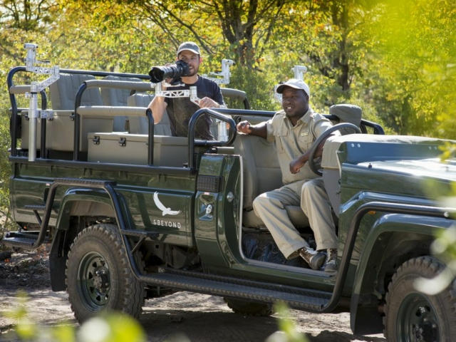 Phinda Mountain Lodge guide and guest