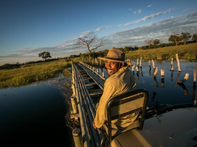 Guide at Bushman Plains Camp, Botswana