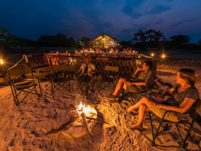 Camp Savuti fireplace