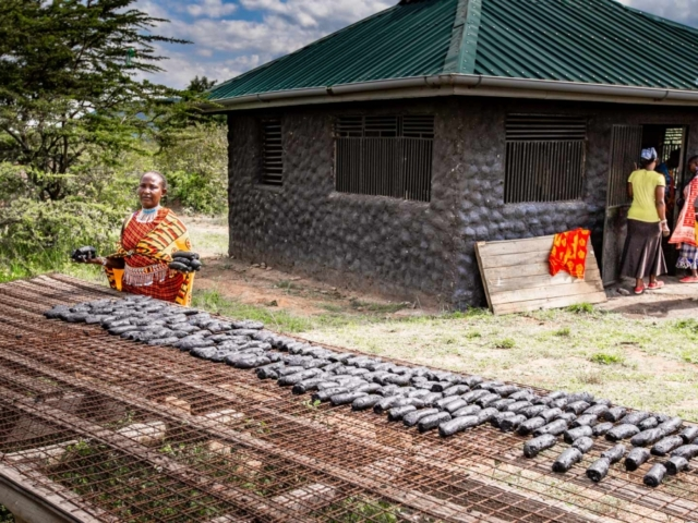 Charcoal project at Karen Blixen Camp, Kenya